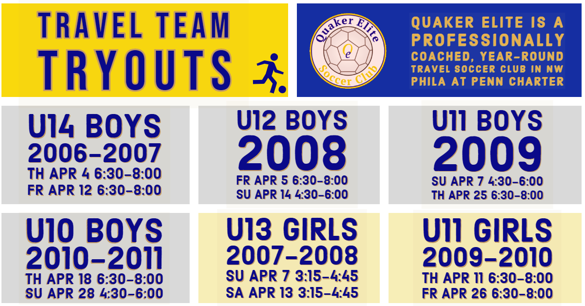 Quaker Elite Travel Team Tryout Schedule