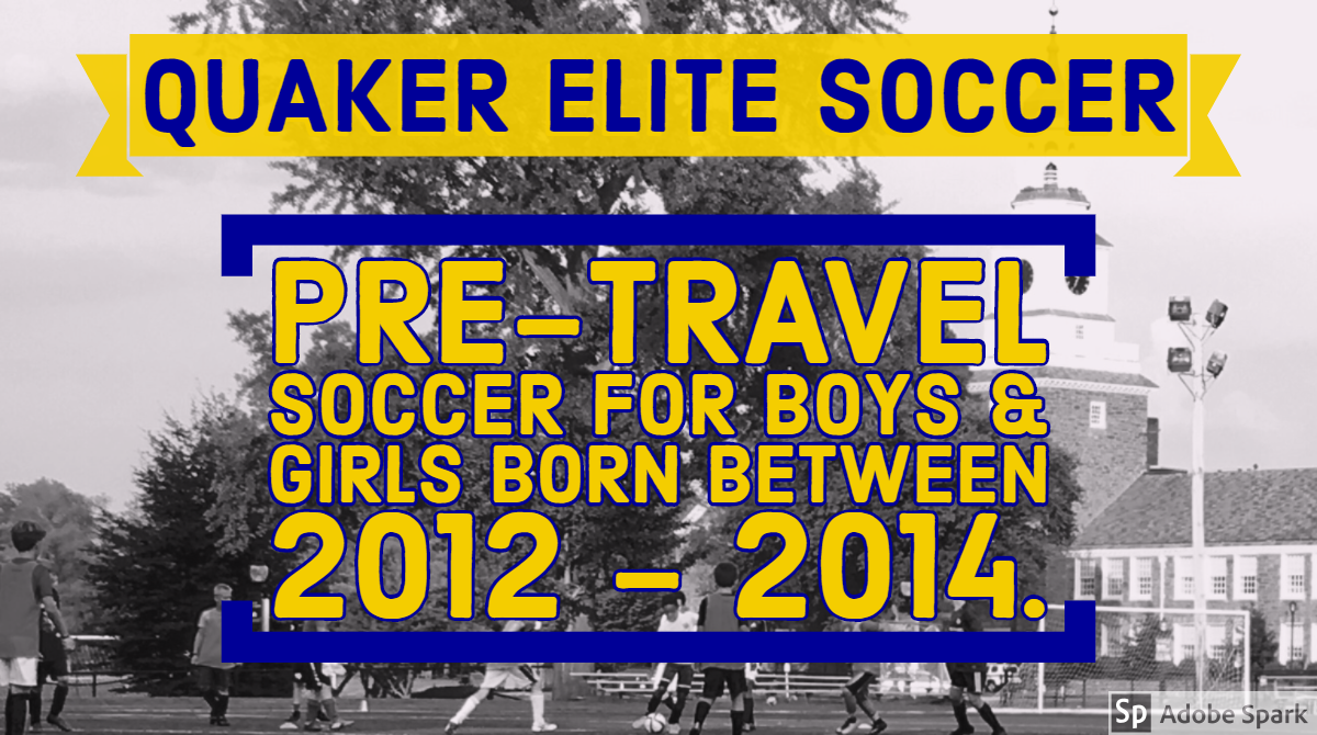 Pre travel soccer for boys and girls born between 2012 and 2014.